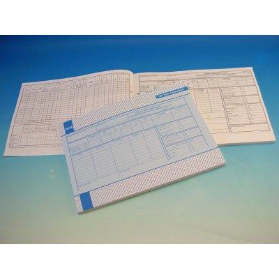 Optys 1166 Záznam o době řízení vozidla A4 nepropisovací 100 listů