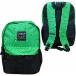 Gatito batoh Minecraft zelený/černý