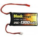 LiPol Black Magic 7.4V 1300mAh 25C JST