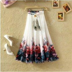 a94efbc4ac71 Lehká dlouhá letní sukně bílá s květinovým vzorem alternativy ...