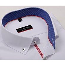 Eterna Modern Fit Chambray Bílá košile s modro-bílým vnitřním límcem 15ee49f81d