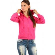 Glara Dámská prošívaná mikina se zipem růžová 163276 0624d8ccbfe