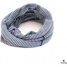 Stripes Junior tunel tmavě modrá/bílá