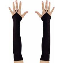 e2847a2e2a8 Widmann Černé saténové rukavičky s poutkem na prst