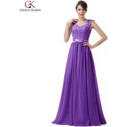 c1773d00823 Grace Karin Fialové společenské šaty s výšívaným korzetem CL6231-3 Fialová