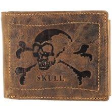 cc3a71898 Greenburry Kožená peněženka 1796-Skull 25 hnědá