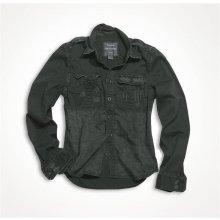 Raw Vintage pánská košile s dlouhým rukávem Černá