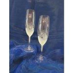 Karel Rut Skleničky na šampaňské flétny 2 ks 165 ml