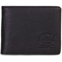 HERSCHEL Supply Hank Leather RFID Black Pebbled