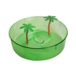 Terárium Shopakva plastové terárium pro želvy zelený kruh 24,5 cm