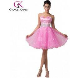 Grace Karin společenské šaty krátké CL6145-2 Růžová alternativy ... 970fb63df3