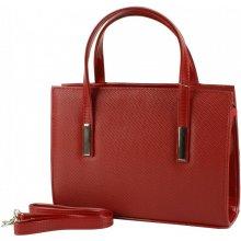 Dawidex kabelka z lakované eko kůže červená