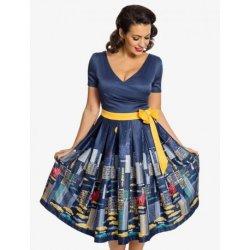 0a166d040ae Lindy Bop dámské retro šaty Gina NYC 5573 tmavě modrá od 1 490 Kč ...