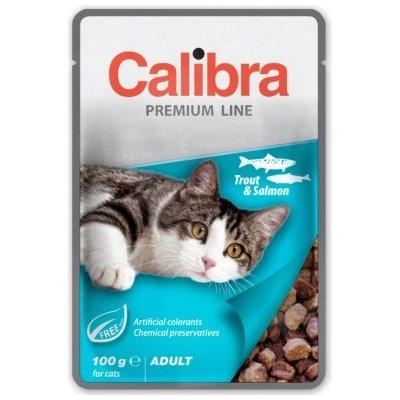 Calibra Cat Premium Adult Trout & Salmon 100 g