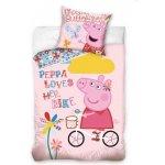 Carbotex povlečení PEPPA PIG na kole bavlna 140x200 70x80