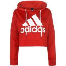 Adidas Logo Crop HoodLd83 red white f7390259e8b