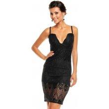 Krajkové šaty sa-487 Mayaadi černé