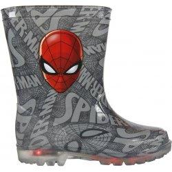 Disney Brand Chlapecké svítící holínky Spiderman šedé dětská bota ... 9f82dd03a8