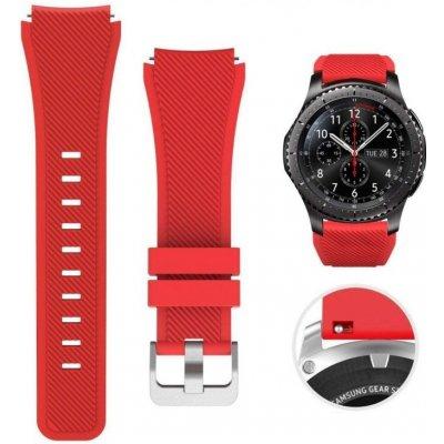 ESES silikonový řemínek pro Samsung Galaxy Watch 46mm / Samsung Gear S3 červená 1530001034