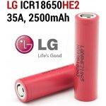 LG HE2 18650 30A pro velké zátěže high drain 2500mAh