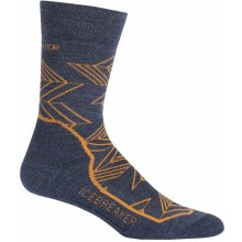 Icebreaker Mens Hike+ Light Crew Intersecting Arrows, Fathom HTHR/Koi/Midnight Navy