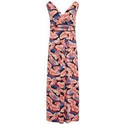 Comma letní šaty námořnická modř mix barev oranžově červená ... 26d3f96363