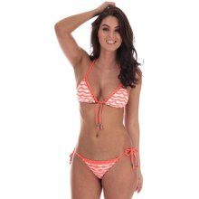 5ea144142 Seafolly Womens Slide Triangle Bikini Top Orange white
