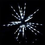 Venkovní LED hvězda CL642W 100cm 300LED 8-funkcí studená bílá