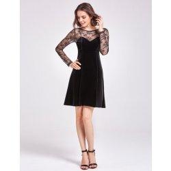 Ever-Pretty sametové šaty s krajkovými rukávy AS05898BK černá od 1 ... b8d5df9718