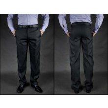 Kalhoty pánské oblekové grafit pro výšku