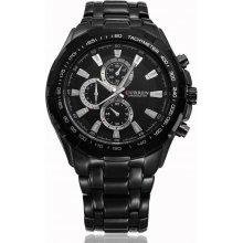 Curren Style Black Chronometer