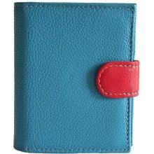 HELLIX dámská kožená peněženka P1255 Tyrkys multicolor