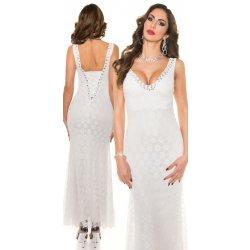 8eb39c0176f Filtrování nabídek KouCla Společenské dlouhé šaty s krajkou bílé ...