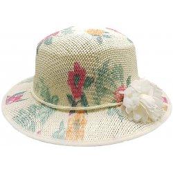 Bleskovynakup.cz Dámský letní slaměný klobouk květinový s bílou kytkou žlutá f65bb325f6