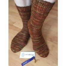 ponožky pletené z velmi kvalitního merina malabrigo - 227 volcan 6a95a33ffe