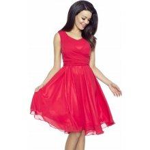 244980d1f5b Kartes dámské šifonové šaty KM227-1 červená