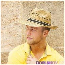 Karpet Pánský slaměný klobouk s rypsovou stuhou originál 70009 e80322d547