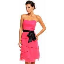 fae3fe4ece65 Mayaadi společenské šaty korzetové s mašlí a sukní s volány růžová