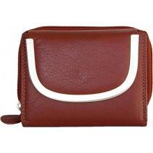 tmavě kvalitní kožená peněženka Kabana červená