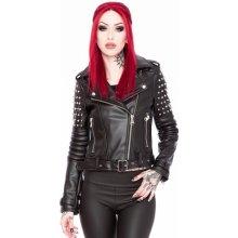 Killstar bunda dámská křivák Baphomet černá