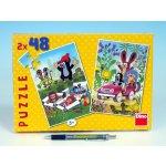 DINO Puzzle KRTEK se raduje 2x48 dílků