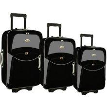 Sada 3 kusů cestovních kufrů RGL šedo černý textil