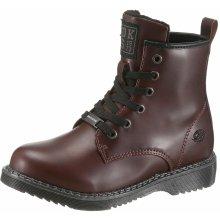 7c14a23234 Dockers by Gerli šněrovací zimní boty ke kotníkům bordó