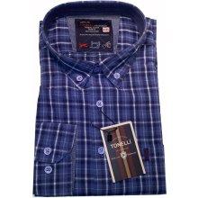 dd5b7e63752e Modrá pánské košile dlouhý rukáv rovný střih Tonelli 110935