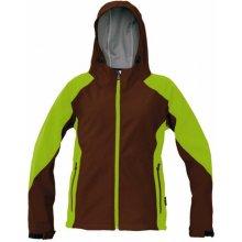 CRV YOWIE dámská softshell bunda hnědo-zelená