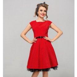 ca29693f642f Dámské šaty Gotta retro šaty Camilla s puntíky GS16 červená
