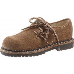 Dětská bota Spieth   Wensky dětské mokasíny se vzorovanými šněrovadly  světle hnědá 1154c8f027