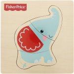 Fisher Price puzzle dřevěné dílky slon
