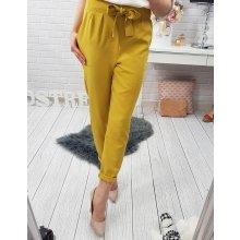 Dámské žluté kalhoty s mašlí uy0069 f387e70a2d