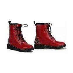 Dámská obuv Dámské červené kotníkové boty Punk 113 1890fcd293